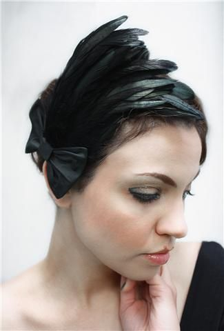 Lavinia feather hair pieces