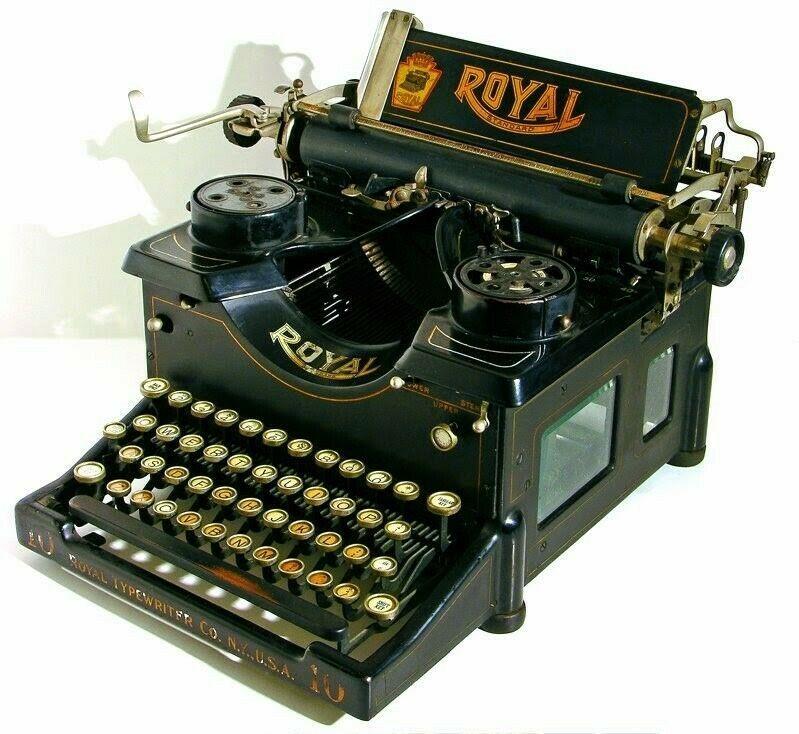Antique Vintage Royal Model 10 Typewriter W Beveled Glass Sides Royal Royal Typewriter Typewriter Vintage Typewriters