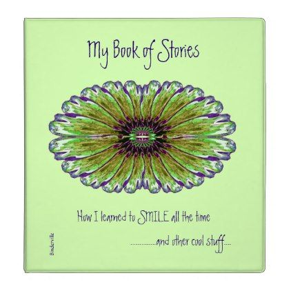 My Book of Stories Fractal Design Text Templates 3 Ring Binder
