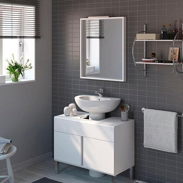 Muebles para lavabos con pedestal en blanco | Muebles de ...