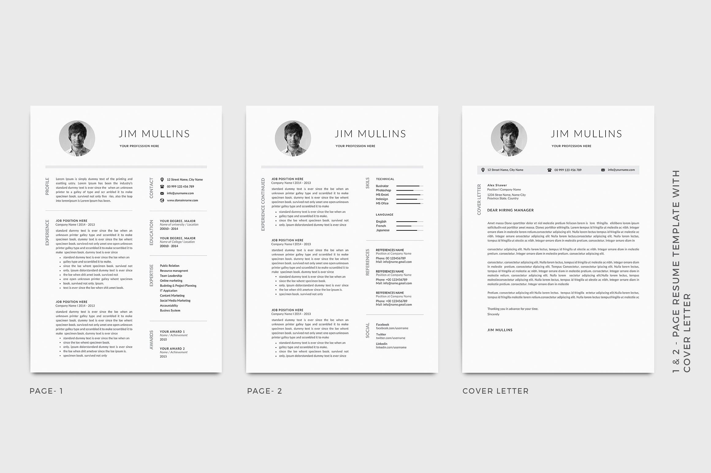 what size font for cv