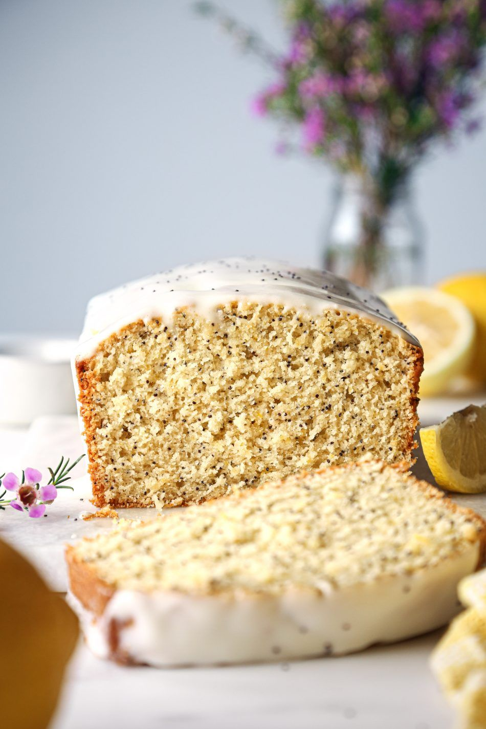Lemon poppy loaf with cream cheese glaze recipe in 2020