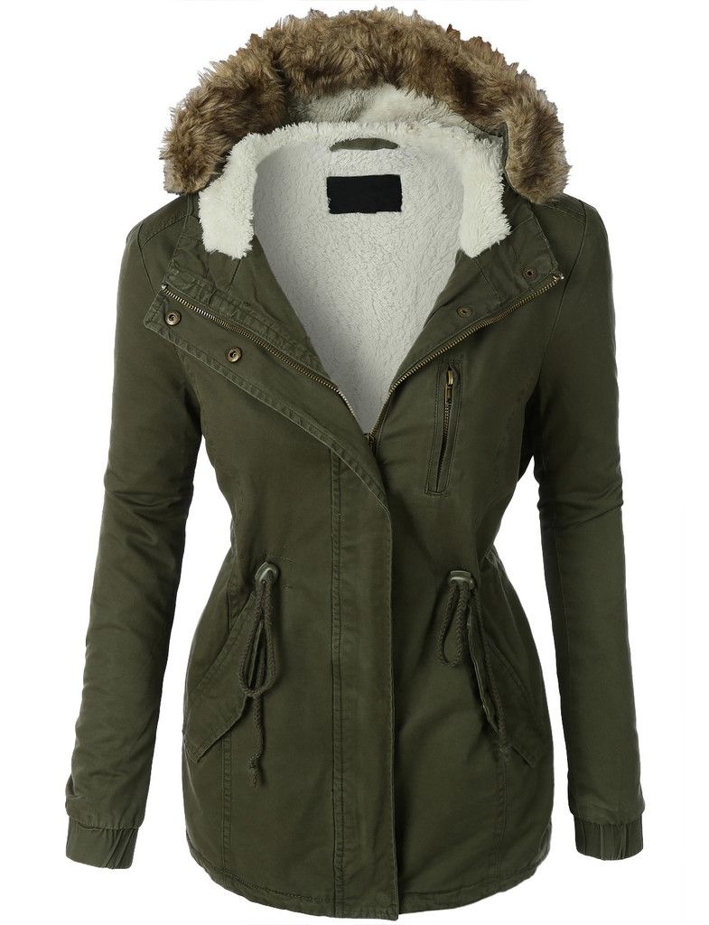Womens Sherpa Lined Anorak Parka Jacket with Hoodie | Anorak ...
