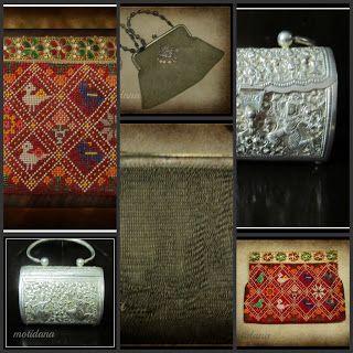 vintage purses , beaded vintage purse, silver purse