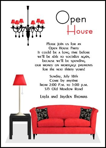 Open House Invitations Wording Samples For Party Celebration