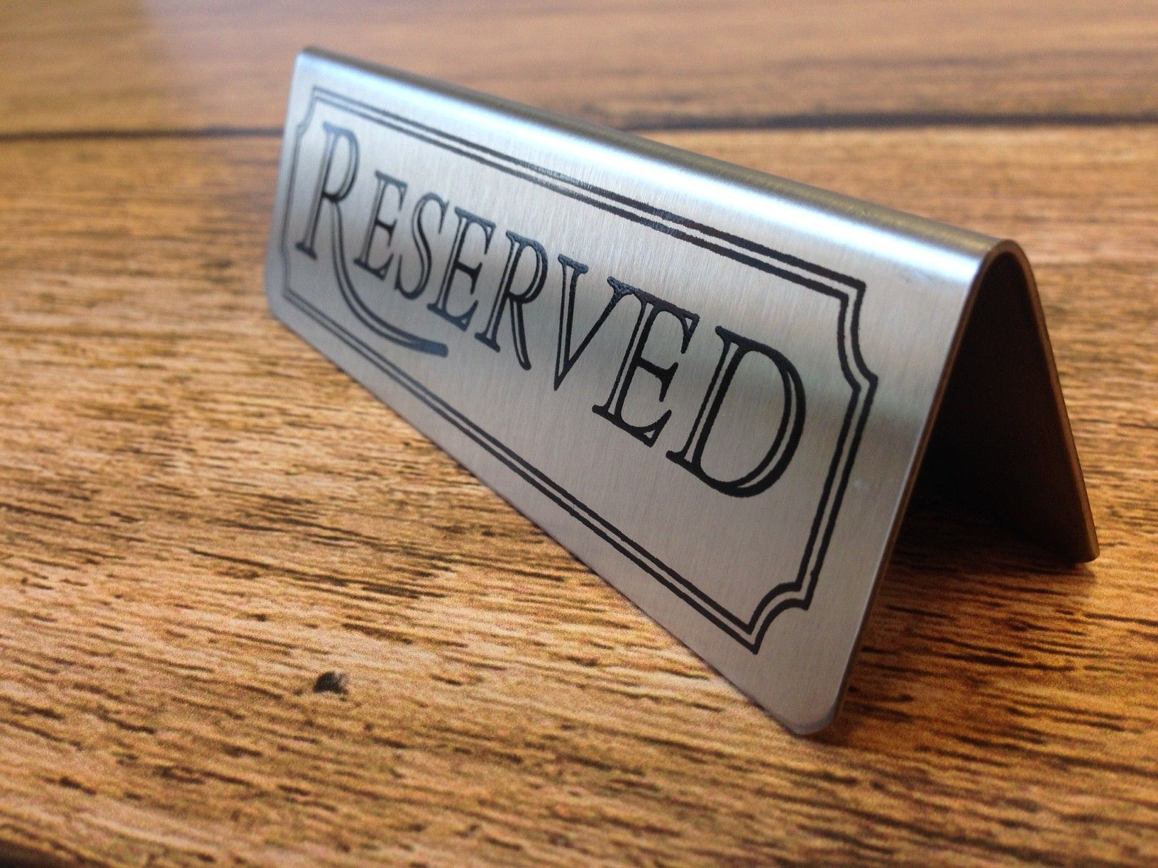 metal table signs reserved signs and numbers sister wedding