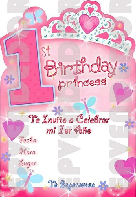 Invitaciones de cumplea os de princesas fiesta antonella - Fiestas de cumpleanos de princesas ...