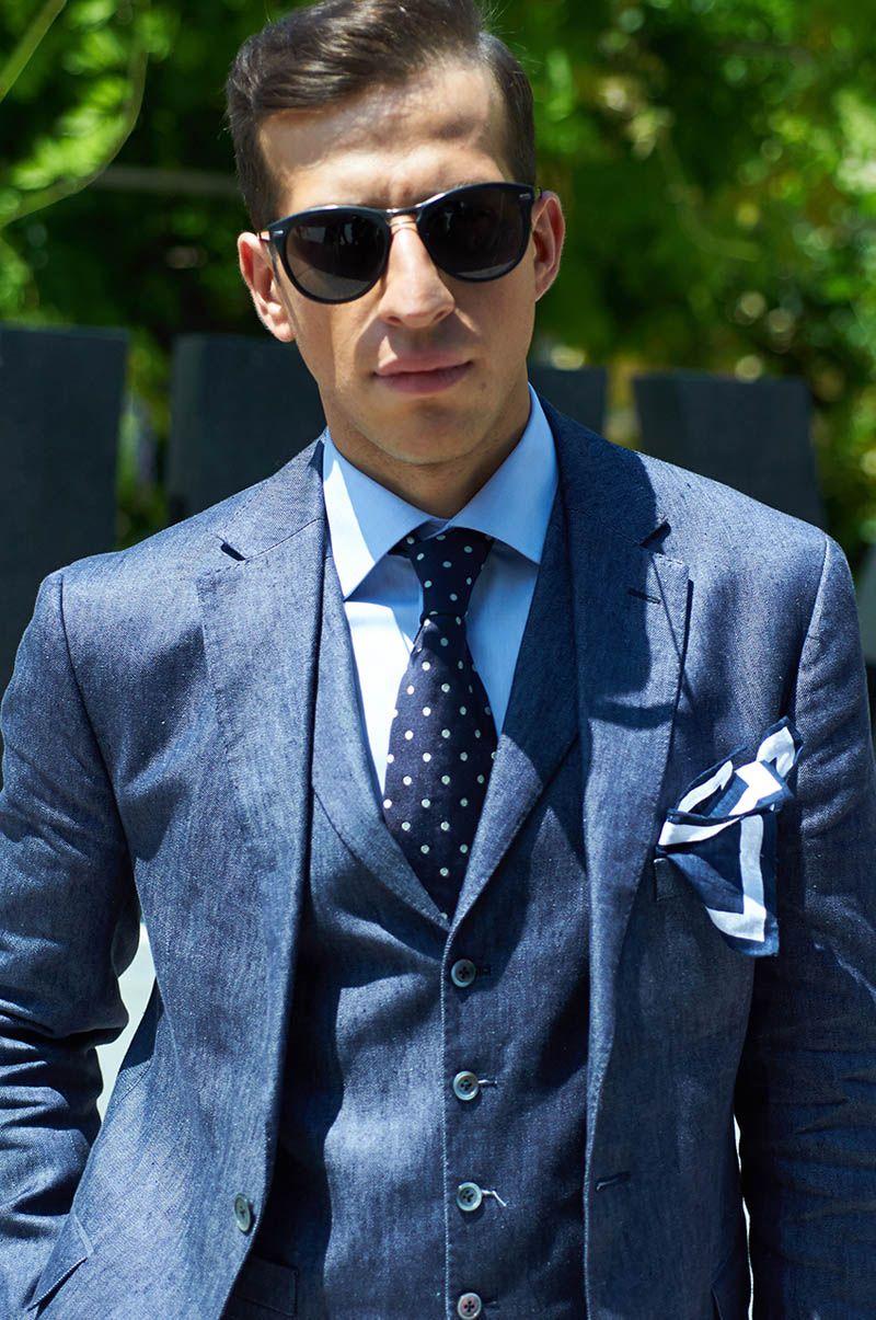 Three Piece Chambray Suit   Man Fashion & Jackets   Pinterest   Chambray