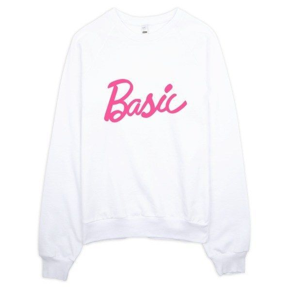 Basic Girl Doll Typography Sweater