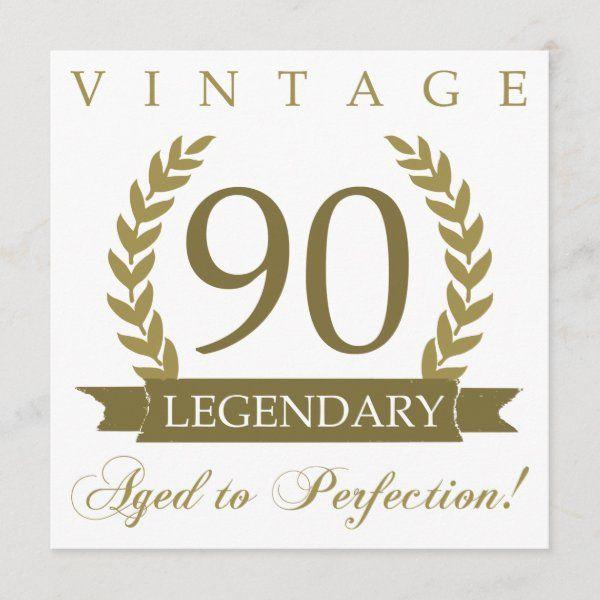 Legendary 90th Birthday Card Zazzle Com 90th Birthday Cards Dad Birthday Card 90th Birthday