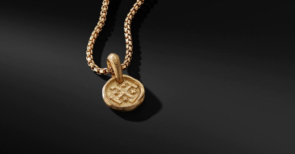 Shipwreck Coin Amulet In 22k Gold David Yurman Amulet Gold 22k Gold