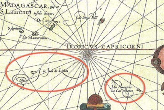 Jaoa de #Lisboa et Dos Romeyros dos Castelhanos : deux îles fantômes dans le sud ouest de l' #oceanindien. #ilefantome http://www.7lameslamer.net/Une-ile-portee-disparue-au-Sud-de.html