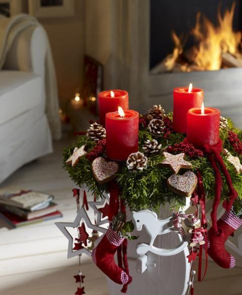 Weihnachtliche Deko und Tischdeko