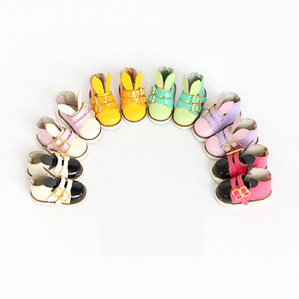1:6 Bunny Ear BootsFor Blythe , azone, Momoko, | Blythe shoes | Doll Shoes by DollyHoly on Etsy