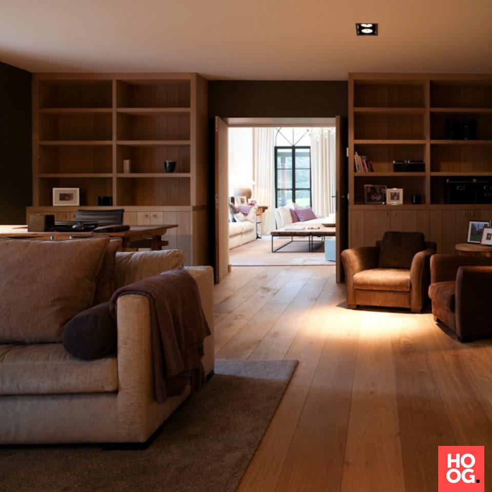 Werkkamer inrichting in landelijke stijl | interieur ideeën ...