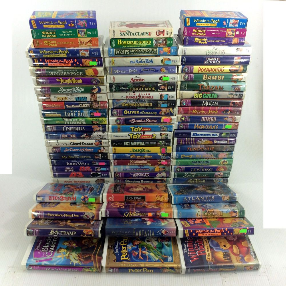huge lot 73 walt disney vhs movies classic masterpiece kid