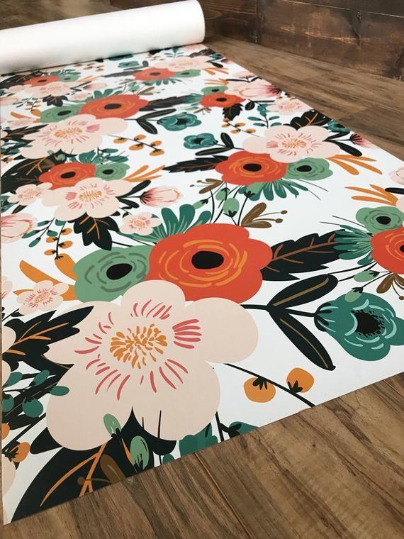 Vintage Floral Removable Wallpaper Temporary Wallpaper
