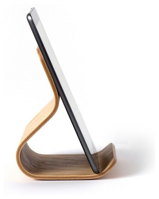 Ray Tablet Stand, Birch modern-desk-accessories
