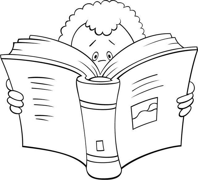 Niño Leyendo Dibujalia Dibujos Para Colorear Eventos