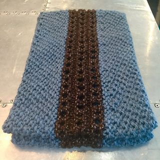 Brown Eyes Blue Cowl by Tracy Keeter  free pattern thru January 2015