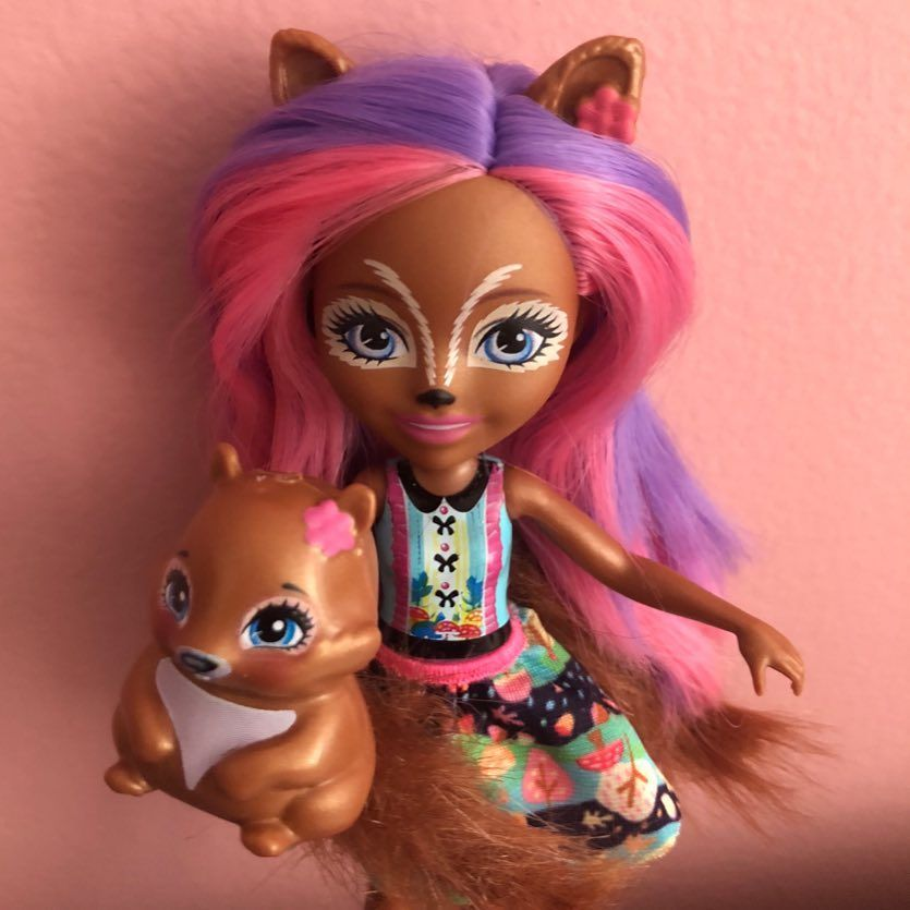 Sancha Squirrel Doll with Pet Stumper Enchantimals Wave 2