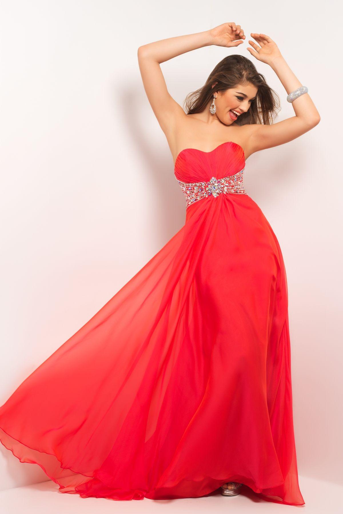 Sexy prom dress in beaded chiffon tight pleats drape your bustline