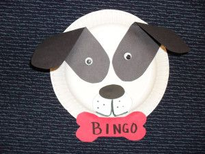 Paper Plate Dog | Dog, Paper plate crafts and Craft
