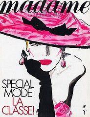 Madame Figaro, couverture illustrée par René Gruau