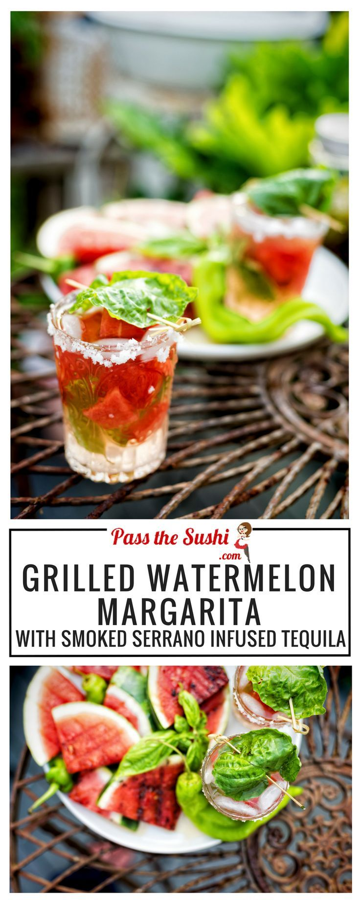 Grilled watermelon margarita with smokey serrano infused tequila grilled watermelon margarita with smokey serrano infused tequila best food blogger recipes pinterest cinco de mayo forumfinder Gallery