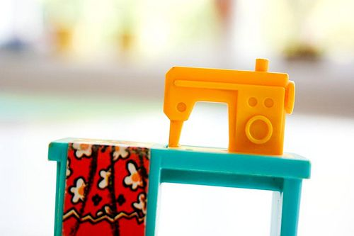This is the Fisher Price little people sewing machine.