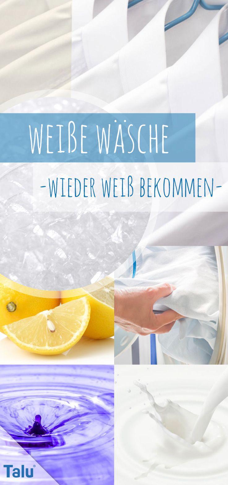 Weiße Wäsche Wieder Weiß Bekommen 11 Hausmittel Gegen Grauschleier