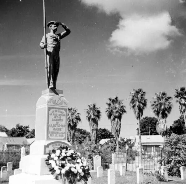 Battleship 'Maine' monument; Key West, FL 1957.