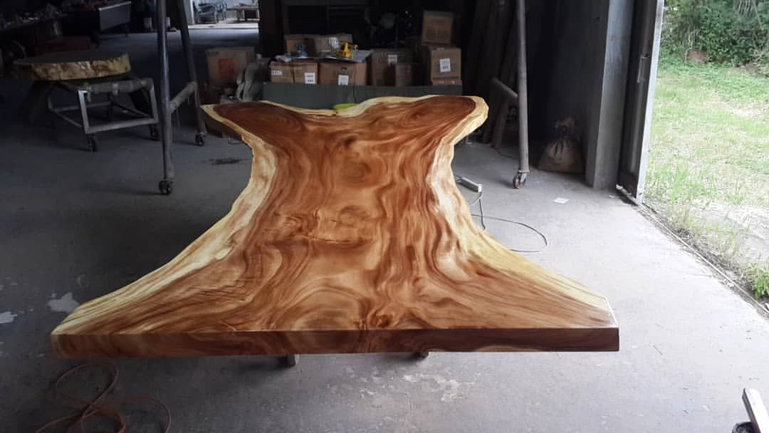 This Large 13ft In Length X 40 Up To 60 Live Edge Golden Acaica