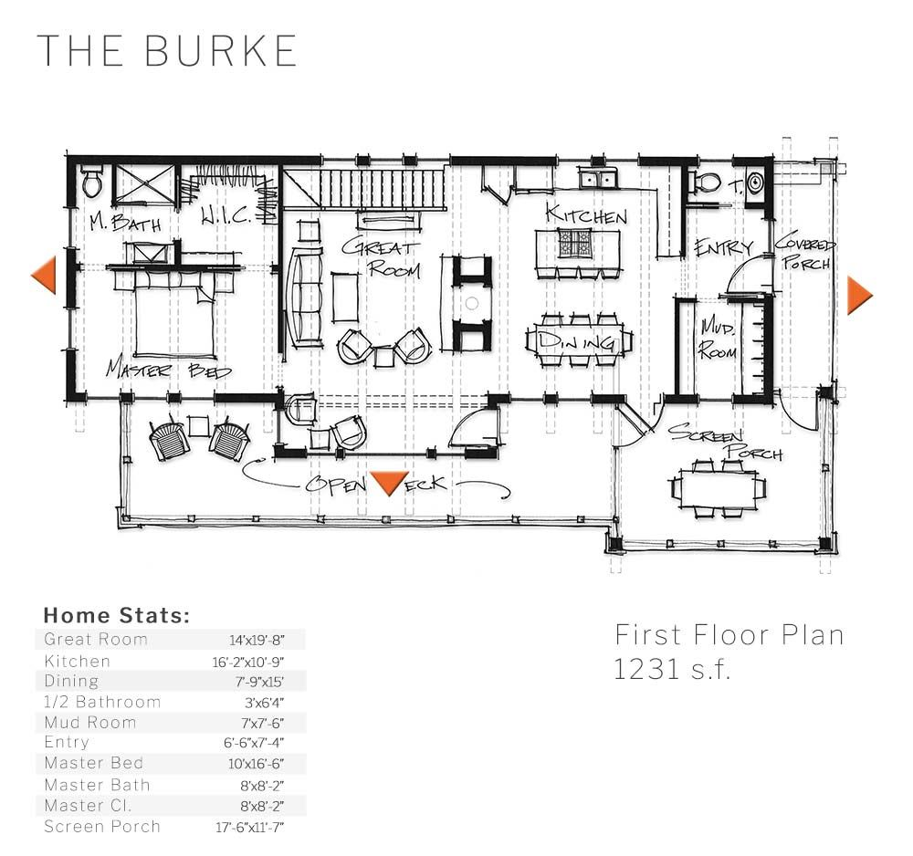 Layout and dimensions of our Burke timber home design | Timberframe ...