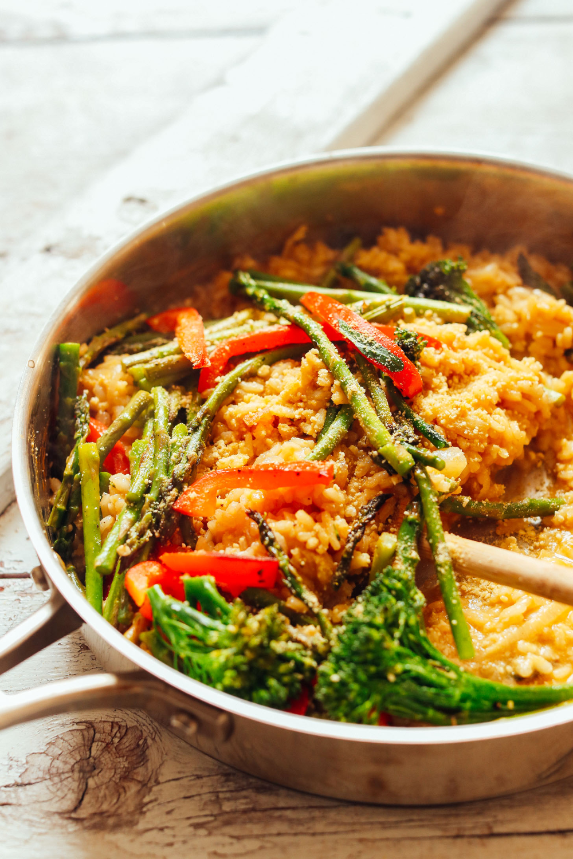 Creamy Vegetable Vegan Risotto Minimalist Baker Recipes Recipe In 2020 Vegetable Risotto Veggie Risotto Vegan Risotto