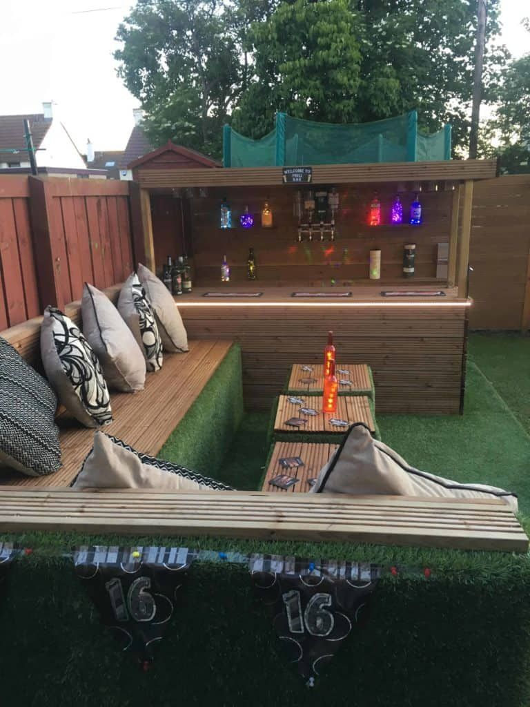 Photo of How I Made a Garden Bar from Wood Pallets • 1001 Pallets