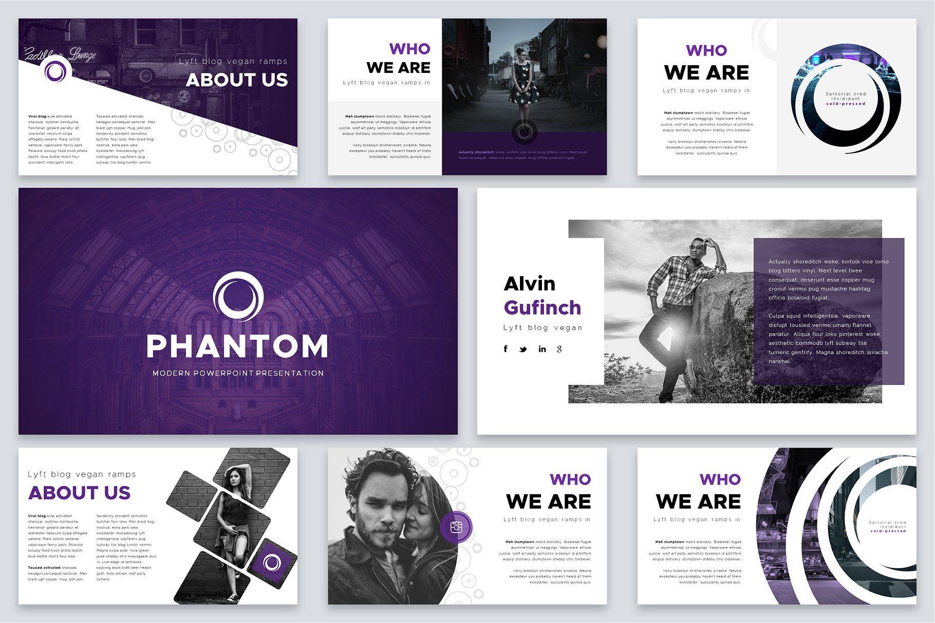Phantom Modern Powerpoint Template Full Hd Slides Features