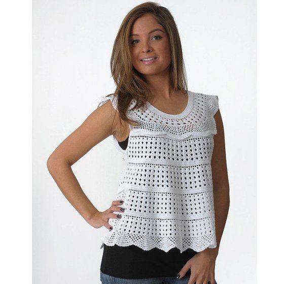 Playa ganchillo crochet sexy túnica patrón, patrón de túnica ...