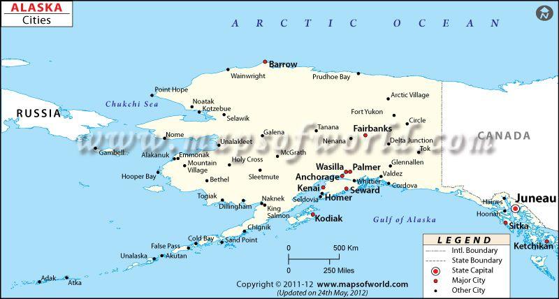 Cities In Alaska Map Of Alaska Cities Alaska Map Alaska Map