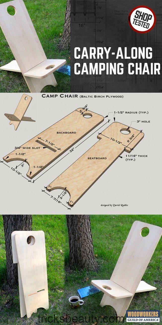 Campingstuhl Aus Holz Zum Mitnehmen Klappstuhl Holzprojekte Diy