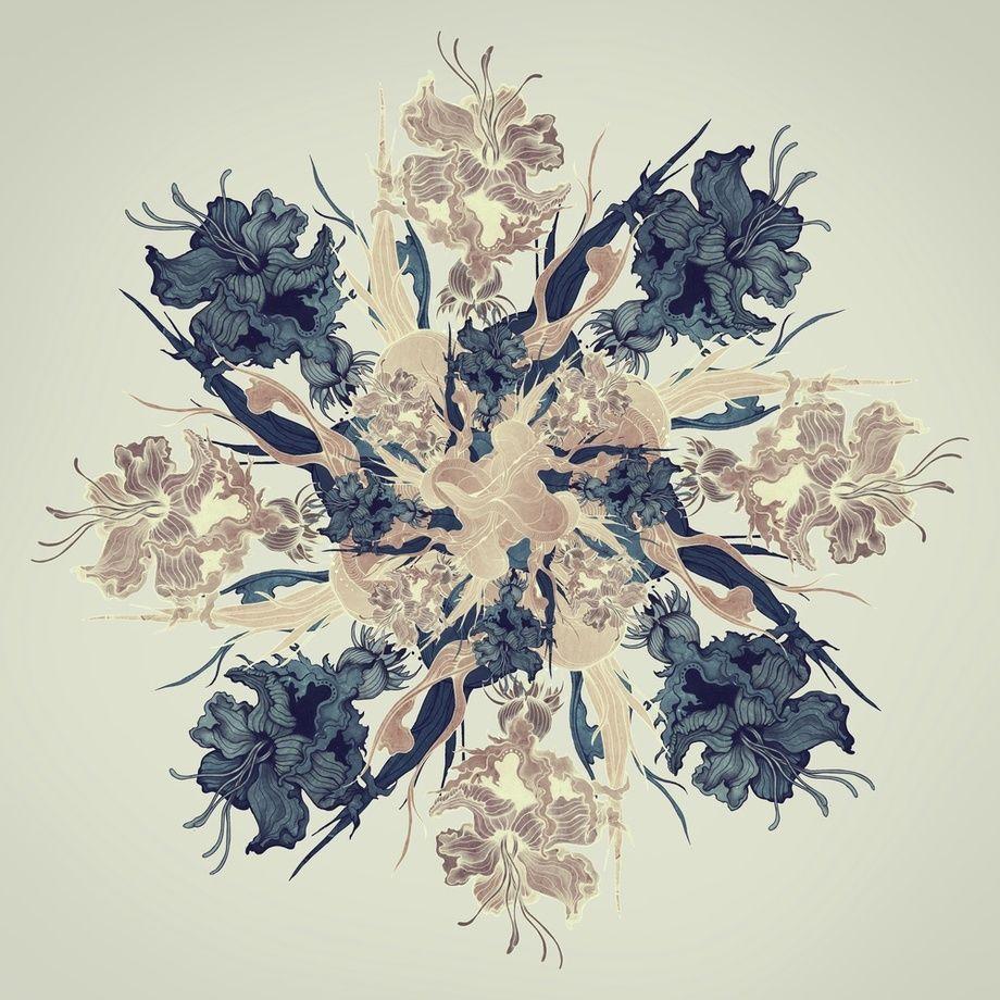 Kaleidoscope 04 - A gallery-quality fine art art print by Sara Blake for sale.