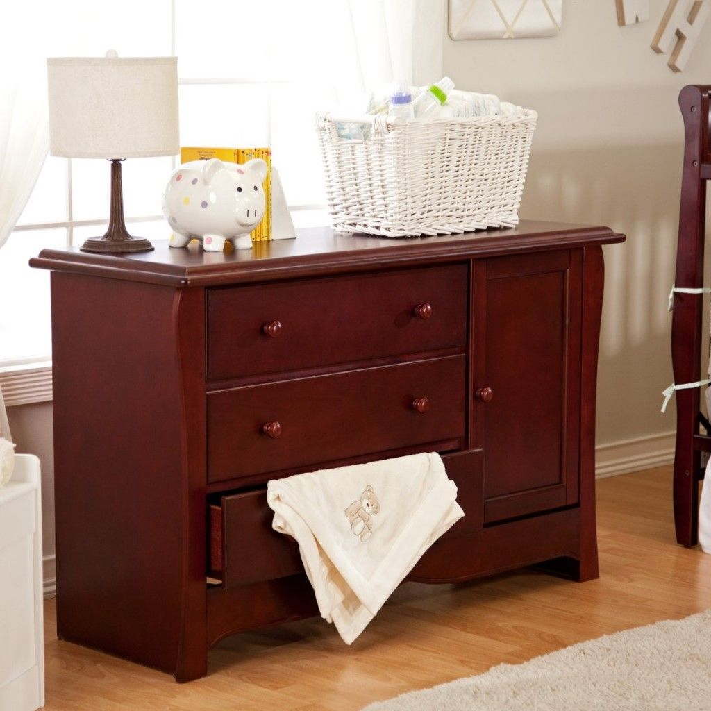 Oak Changing Table Dresser