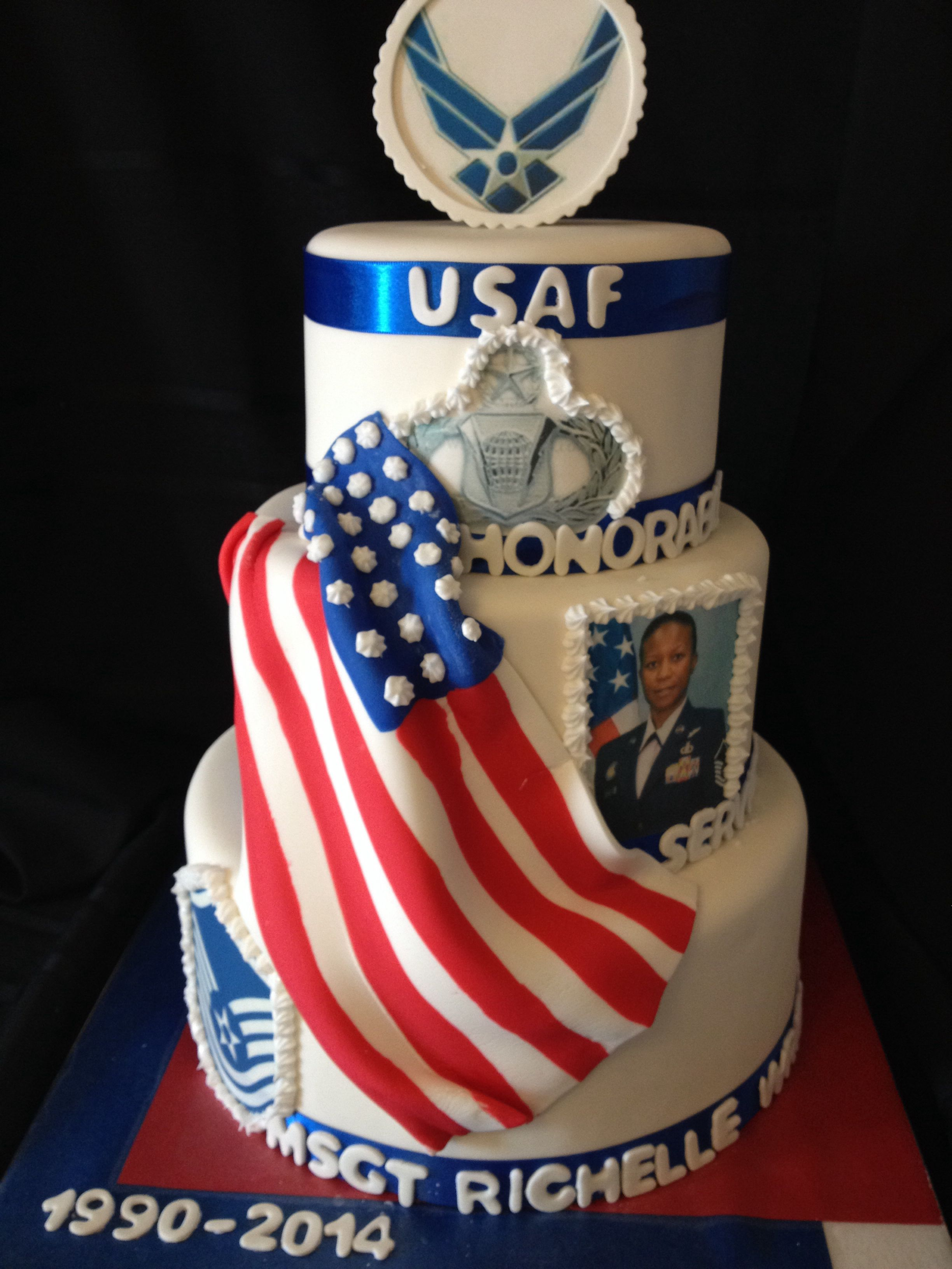 Air Force retirement cake | My Creations | Retirement cakes