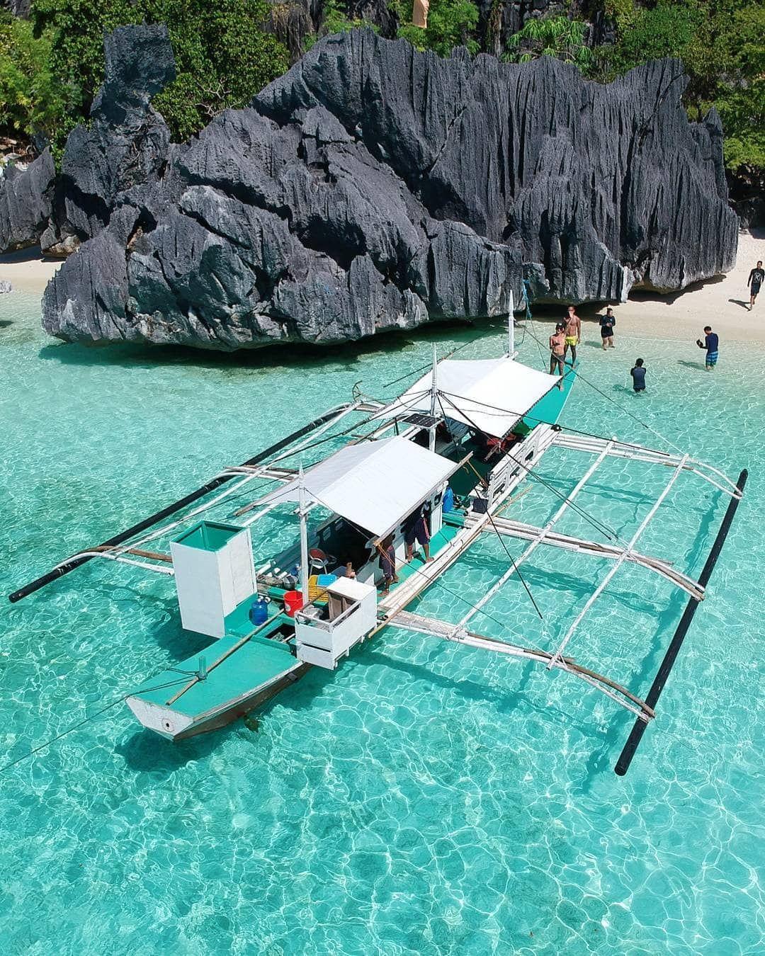 Crystal Clear Waters Of Banol Beach Coron Palawan