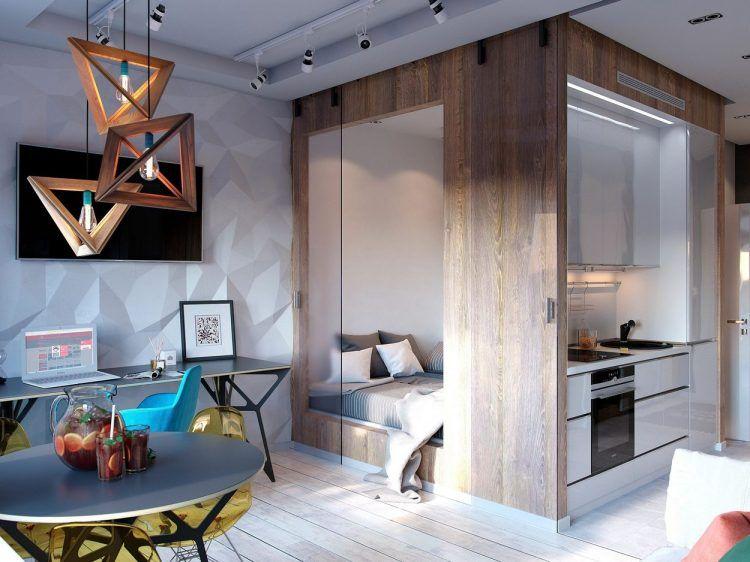 Kreatív lakberendezés egy kis 30m2-es lakásban - látványos, modern
