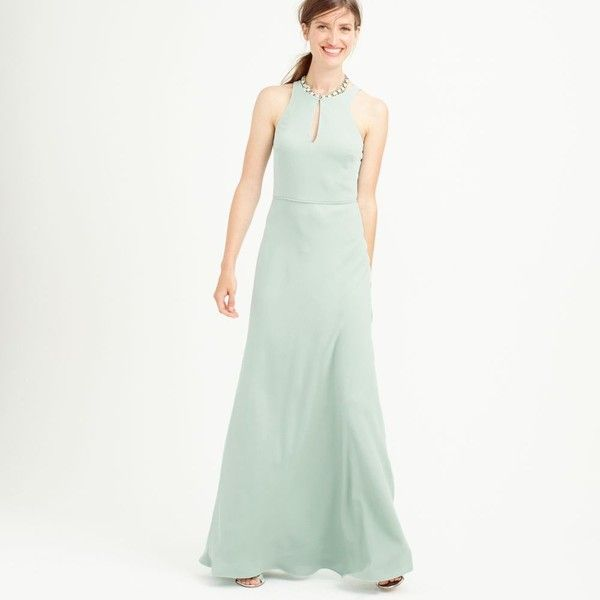 J.Crew Kendall gown in drapey matte crepe ($218) ❤ liked on ...