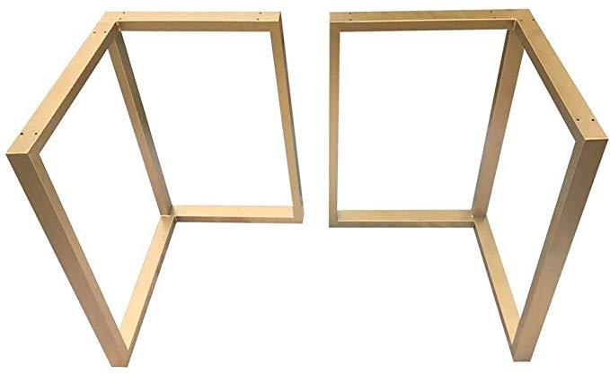 pieds de table dore support en fer