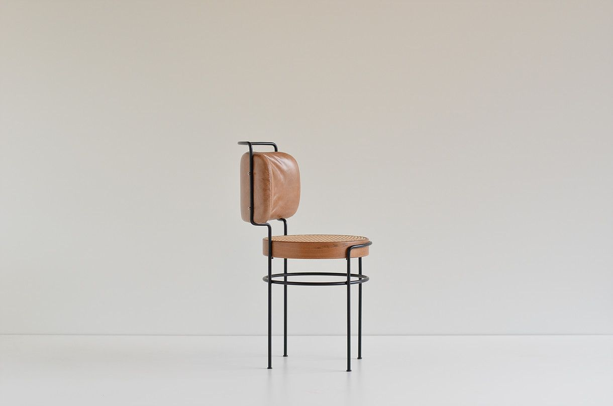 Peng Sessel Gustavo Bittencourt Cadeira Iaiá Chairs With Steel Base