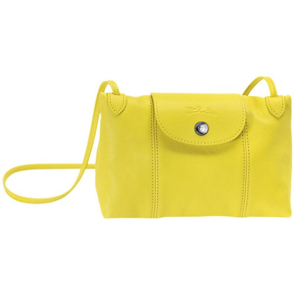 Longchamp Le Pliage Cuir Crossbody Bag in Yellow Monogramming ...