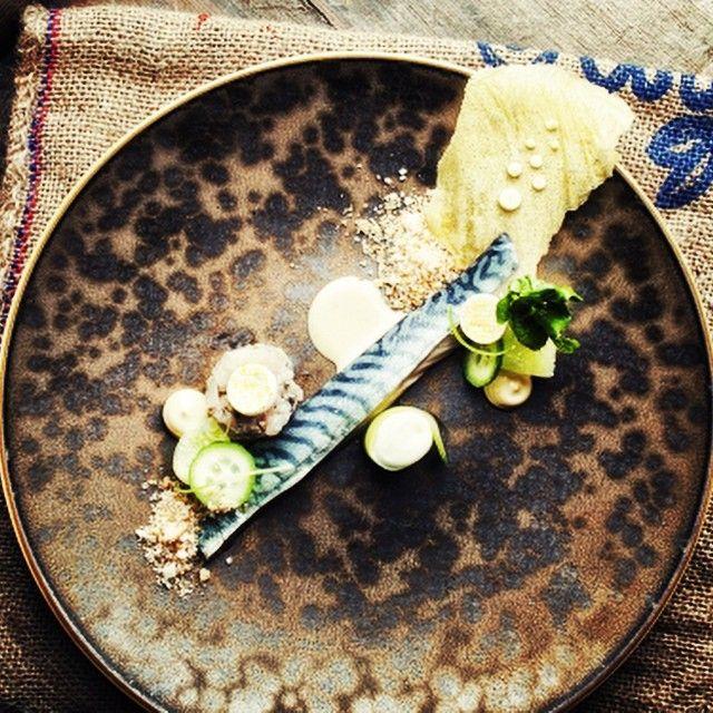 Mackerel by chef Jeroen de Zeeuw  #plating #profile